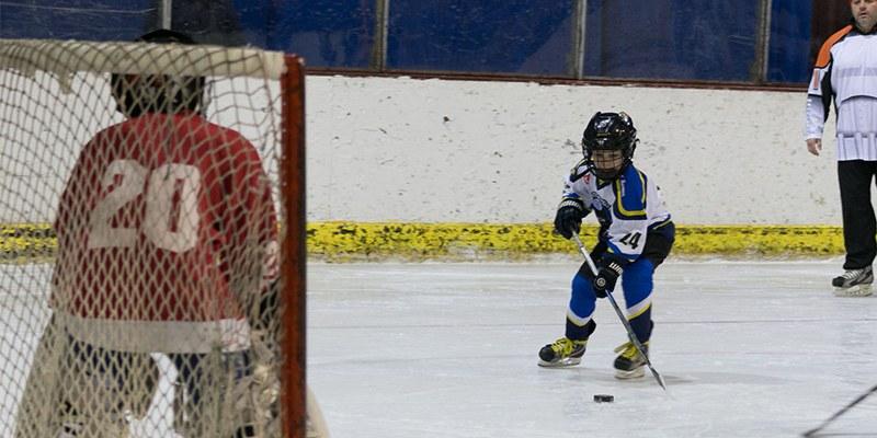 Youth Ice Hockey League Montgomery AL. Kids playing hockey.