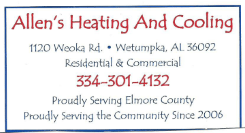 Fishing Tournament Montgomery AL Sponsor Allens Heating and Cooling Logo