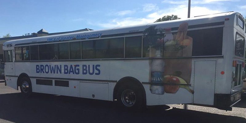 Brown Bag Bus YMCA of Greater Montgomery