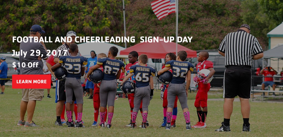 Football and cheerleading signup day. youth sports. youth football montgomery. youth cheerleading montgomery