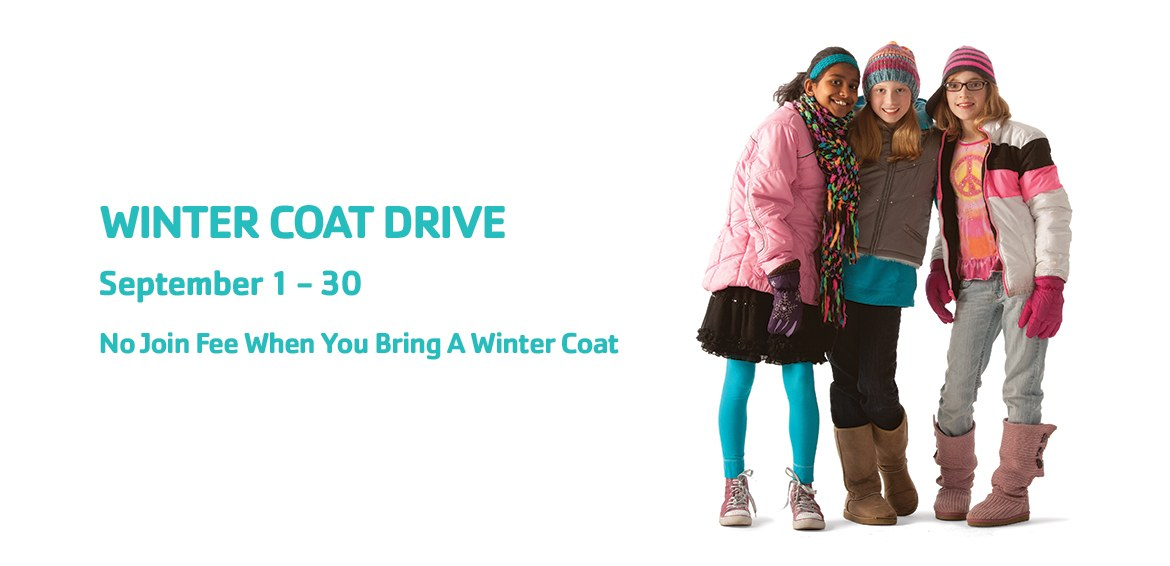 ymca montgomery. no join fee. winter coat drive