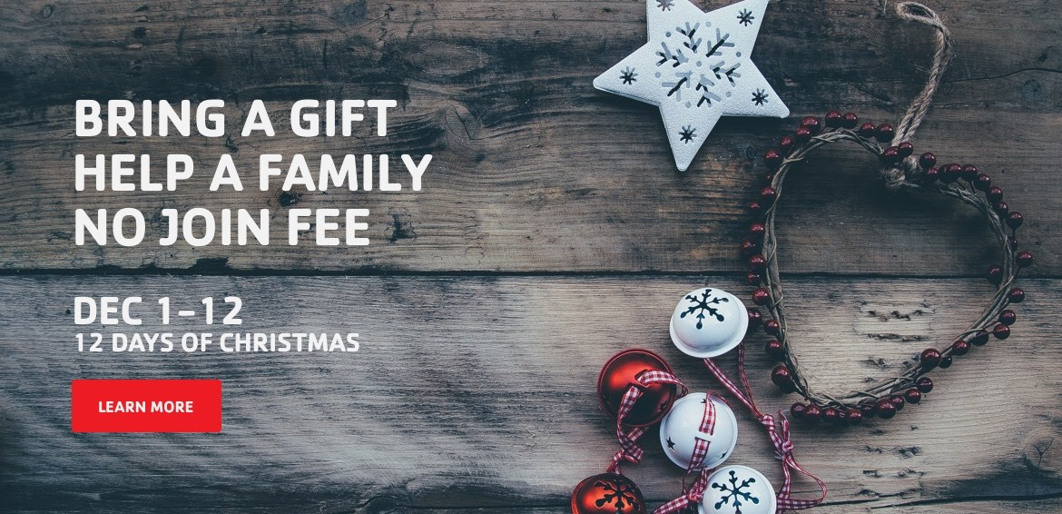 Bring a gift help a family. No join fee.